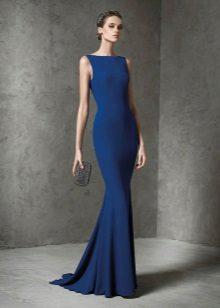 Neulottu merenneito mekko sininen