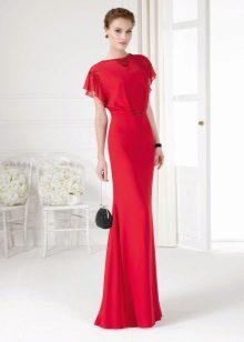 Pavasario suknelė su trumpomis rankovėmis