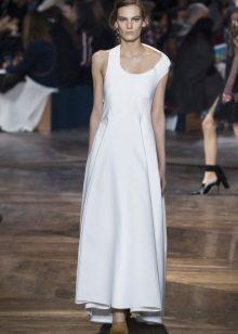Spring dress asymmetrical sa sahig