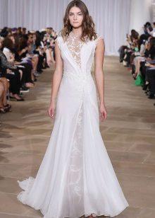 Vestuvių suknelė su nėrinių įdėklais
