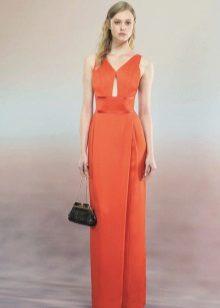 Spring dress carrot color