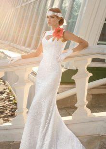 egy esküvői ruha ruhájából készült virág példája