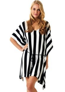 Home Dress-Vertical Striped Tunic