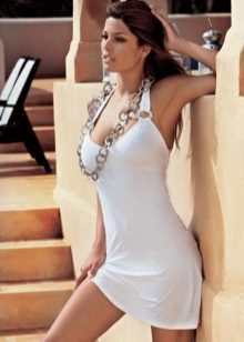 White bathing dress