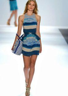 Randig marin klänning