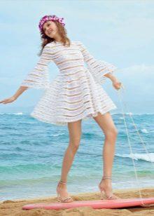 Vestido de renda verão praia