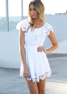Vestido de verão de algodão