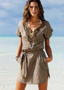 Vestido de verão-túnica de algodão