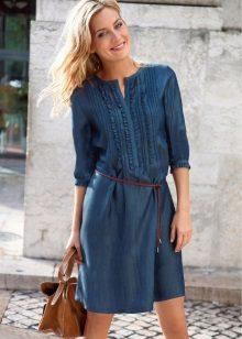 Sommar jeans klänning skjorta