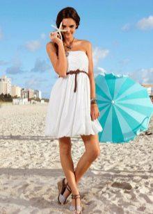 Vestido de malha de verão curto