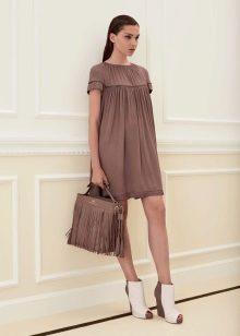 Vestido de malha de verão casual