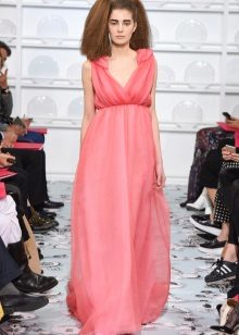 Vestido de verão Empire style pink