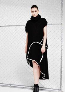Az őszi ruha rövid aszimmetrikus