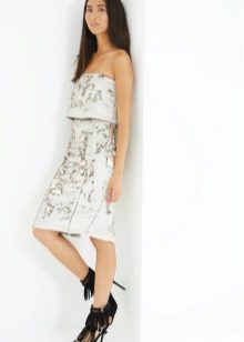 אמצע אורך השמלה Bandeau