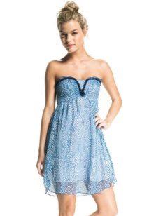 Синя рокля на бандо