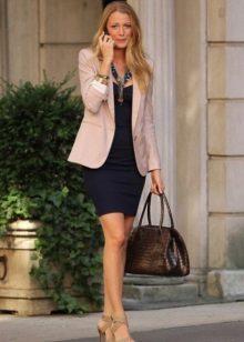 השמלה Bandeau עם המעיל