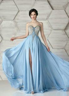 Aften stroppeløs kjole med innredning