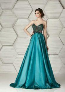 Eleonor Couturen vihreä olkaimeton mekko