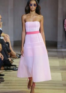 A-line strapless dress ni C. Hererer