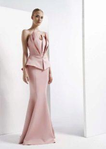 Stroppløs kjole med korsettinnredning