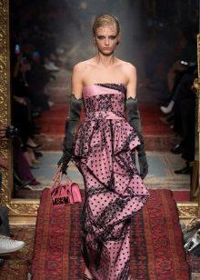 Flounce-olkaimeton mekko