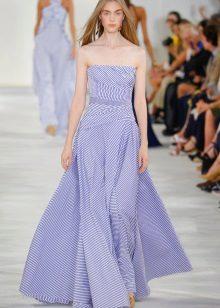 Maritime Strapless Dress