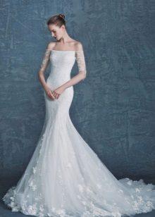 Stroppløs Mermaid Wedding Dress med ermer