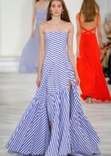 Stroppløs designer kjole