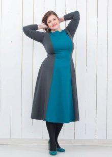 Vestido de Jersey para uma silhueta completa