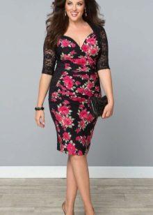 Jersey vestido por completo com flor