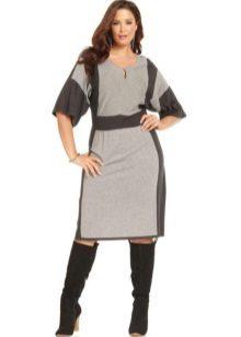 Vestido de Jersey para full-two-tone