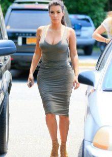Niniting Midi Length T-shirt Dress