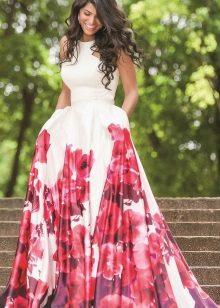 Rochie de vară lungă cu fustă de soare