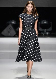 Dress with a skirt the sun for women with a rectangular figure