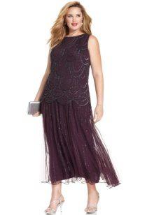 Lange taille jurk voor vol