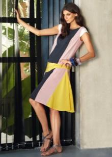 Middelhoge jurk met lage taille