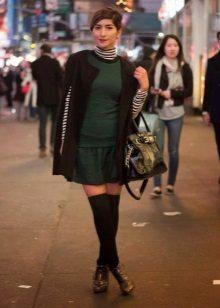Cardigan met lage taille jurk