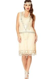 Witte midi-jurk met lage taille van Charleston