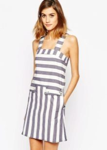 Short striped summer dress sundress