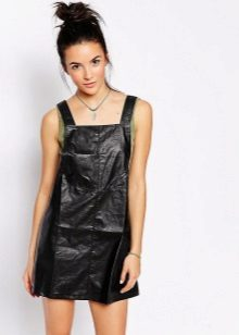 Leather short dress sundress