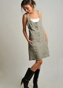 Linen casual dress sundress