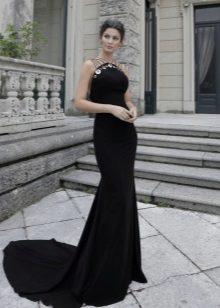 Vestido de crepe de Chine noite sereia