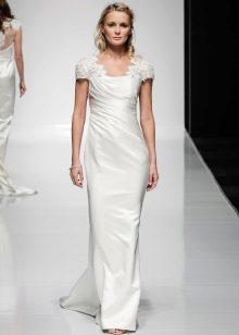 Vestido de casamento crepe de chine