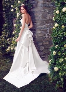 White dress with an open back wedding