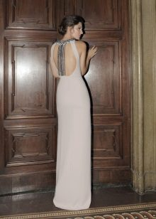 Straight backless dress
