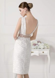 Witte korte backless jurk