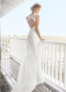 Dress with an open back wedding