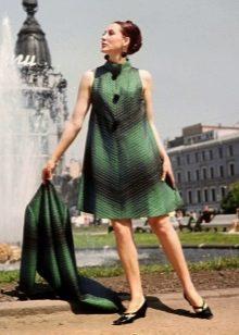 Vestidos de uma linha em estilo anos 60 para mulheres com retângulo