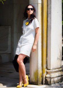 Camisa de vestido no estilo dos anos 60 para mulheres altas