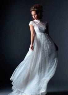 Vestuvių suknelė nėščioms moterims imperija